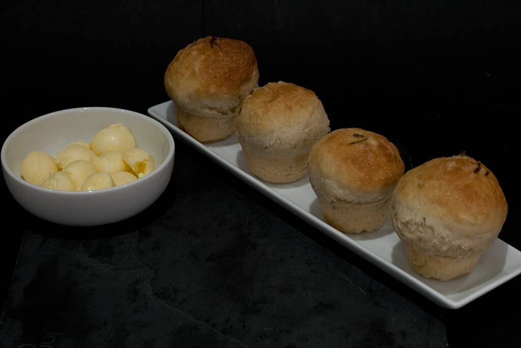 rosemary rolls with butter