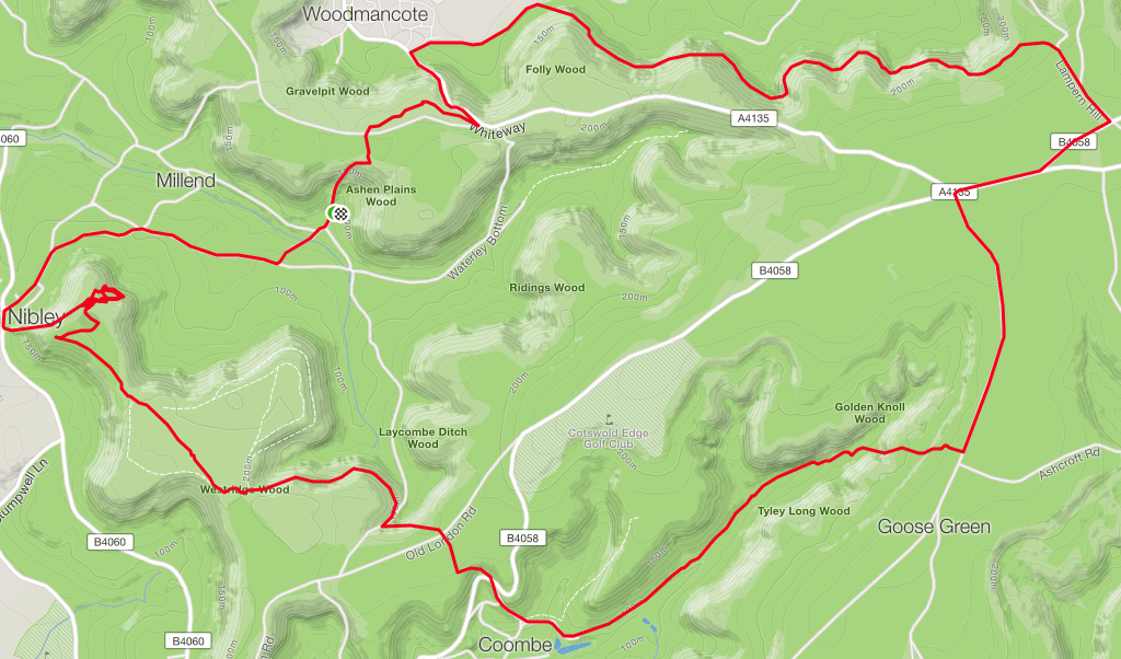 Nibley route map